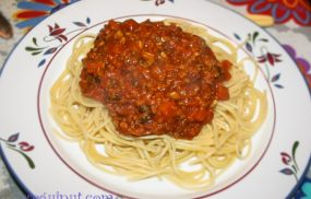 Salsa boloñesa y vegetariana
