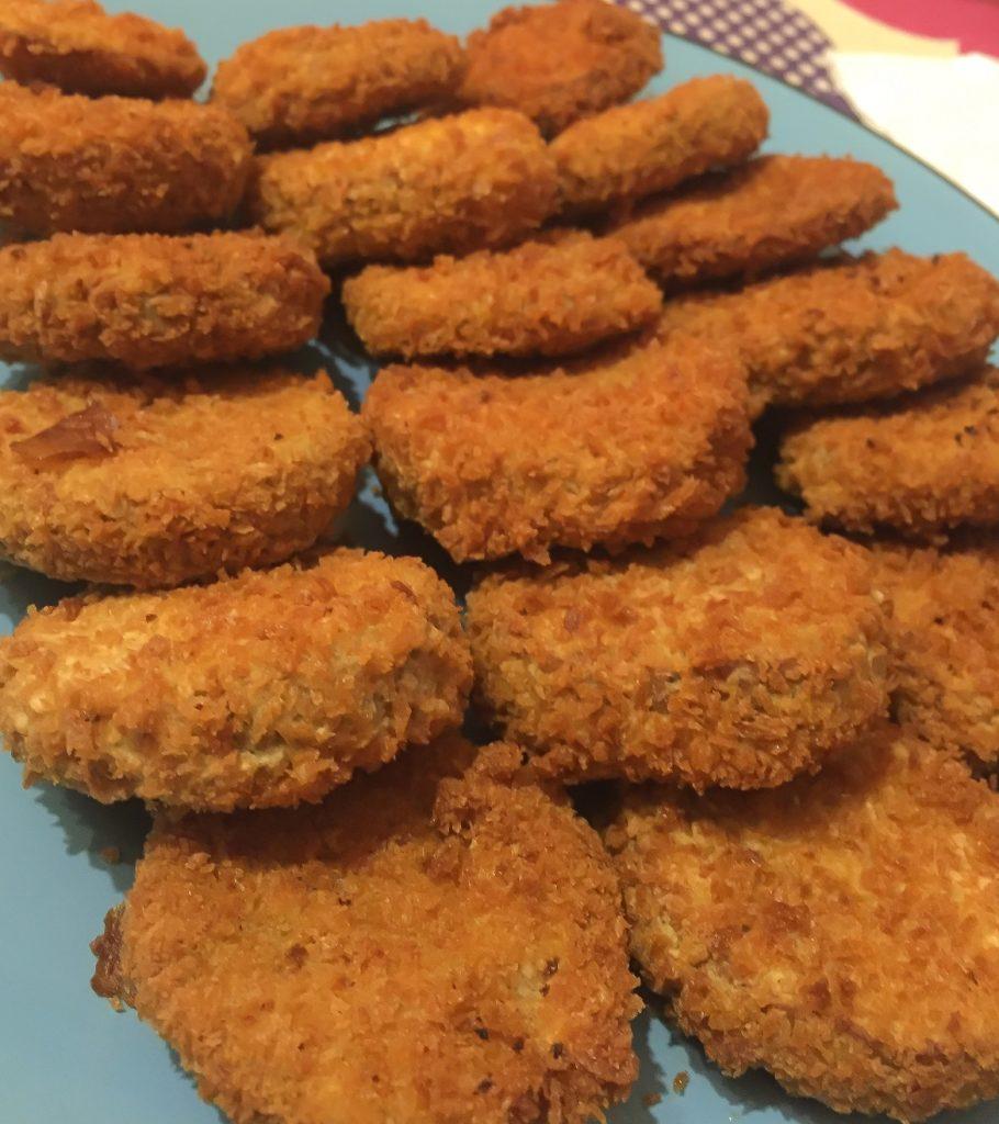 Recetas vegetarianas Veggie Nuggets de Garbanzos