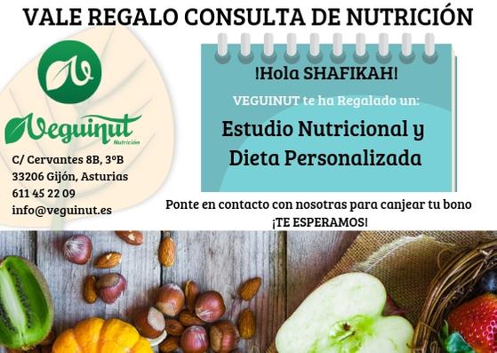 Consulta Regalo de Nutrición