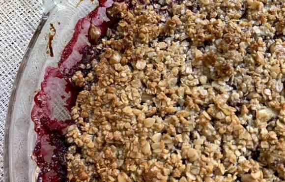 Crumble de Frutos Rojos con Nueces